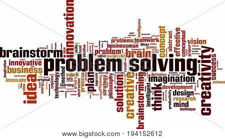 Problem solving word cloud concept. Vector illustration