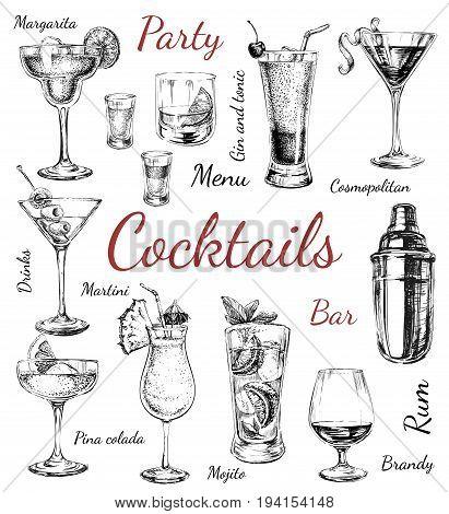 Set of sketch cocktails. alcohol  cocktails. drinks  cocktails.  hand drawn  cocktails.  illustration   cocktails.   Set   cocktails.     cocktails.    cocktails.    cocktails.    cocktails.    cocktails.    cocktails.    cocktails.    cocktails.    cockt