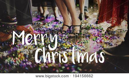 Merry Christmas Santa Claus Happy Concept