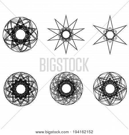 Geometric Pattern Icon Astrology Stars Astrology Geometric Pattern Set Pentagram