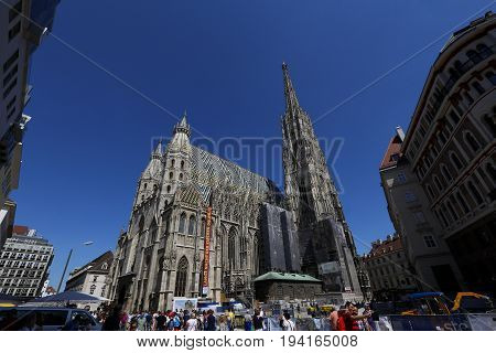 St Stephens Cathedral In Vienna