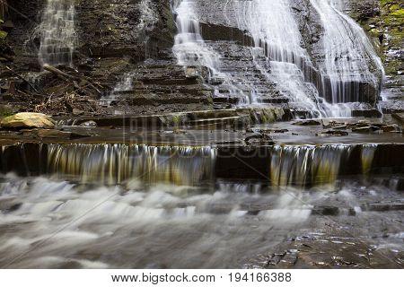 Bottom of Rynex Falls at Plotter Kill Preserve