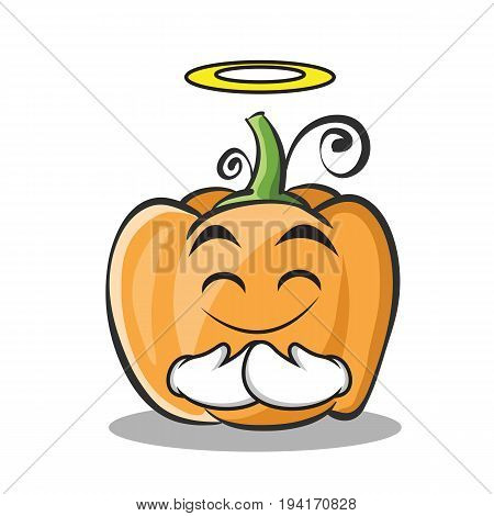 Innocent pumpkin character cartoon style vector illustration