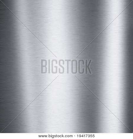Brushed steel plate texture with reflections useful for backgrounds
