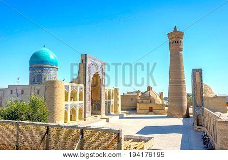 Kalyan Minaret And Mir I Arab Mosque, Bukhara