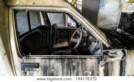 Old Destroyed Car