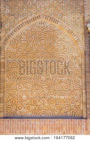 Ornamenst In Tiles In Bukhara, Uzbekistan