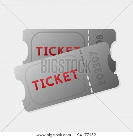 Ticket vector illustration. Retro cinema or movie tickets. Isolated. Eps10