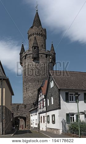 The Adolf tower at Friedberg castle, Hesse, Germany