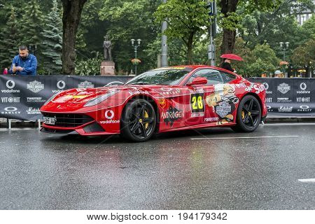 Riga, LV - JULY 1, 2017: Gumball 3000 Race Car 28