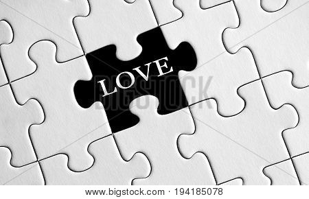 Missing love in a part of puzzle game white