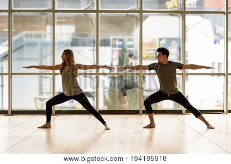 Warrior 2 Or Virabhadrasana Ii Pose.