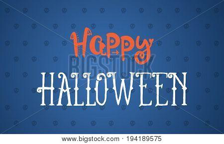 Hapy Halloween design background vector art illustration