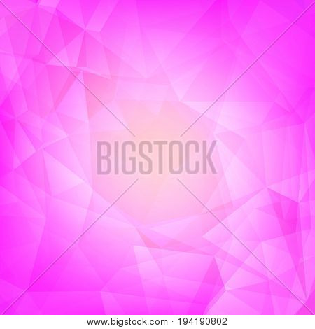 Gradient abstract square triangle background. Tender rose polygonal backdrop for business presentation. Soft gradient color transition for mobile application and web. Trendy geometric colorful banner.