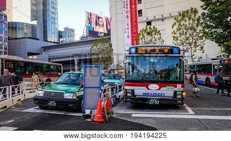 Street At Downtown In Tokyo, Japan