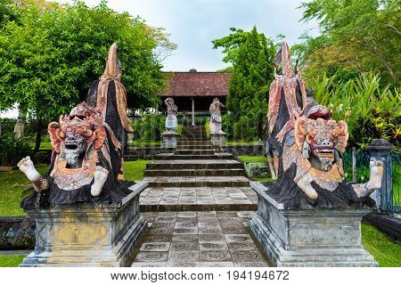 Statues At Tirta Gangga Water Palace In East Bali, Indonesia