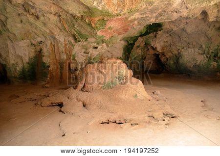 Large chamber in Guadirikiri Cave in Aruba.
