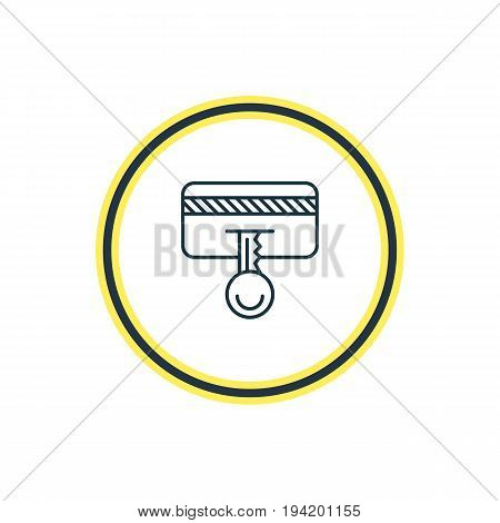 Vector Illustration Of Secure Payment Outline. Beautiful Protection Element Also Can Be Used As Safety Key Element.