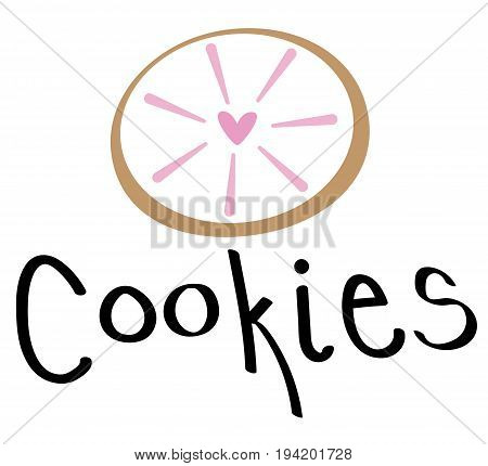 Yummy Pink Cookie Biscuit Food Sweets Treats