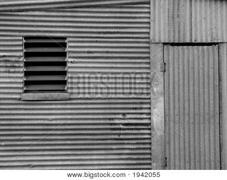Backgroundshedcorrugated Iron