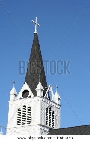Church Steeple Summer View