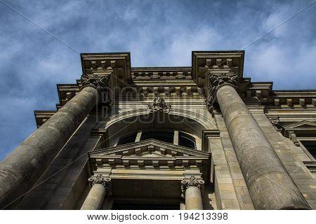 Reichstag building seat of the German Parliament Deutscher Bundestag in Berlin Germany