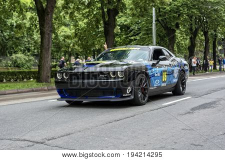 Riga, LV - JULY 2, 2017: Gumball 3000 Race Car 85