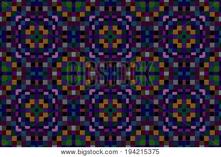 vector illustration abstract mosaic blocks of colored squares