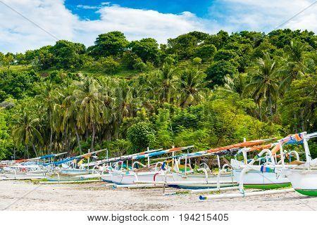 Bali White Sand Perasi Beach In Bali, Indonesia