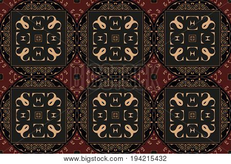 The geometric texture. Abstract geometric ornaments Baroque, Renaissance Vector illustration. Pattern for textile, print or web design.
