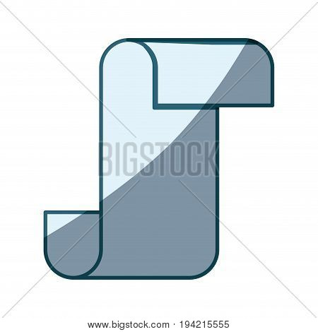 blue shading silhouette of continuously paper sheet vector illustration