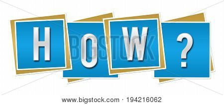 How text alphabets written over blue background.