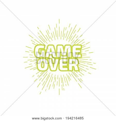 GAME OVER banner. GAME OVER lettering. Vector illustration