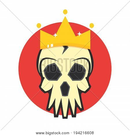 Lich icon, Skull in the Crown. Vector illustration