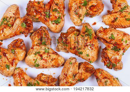 Raw Chicken Wings  Prepared For Roast