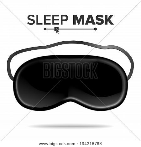 Sleeping Eye Mask Vector. Popular Eye Sleep Mask. Help To Sleep Better