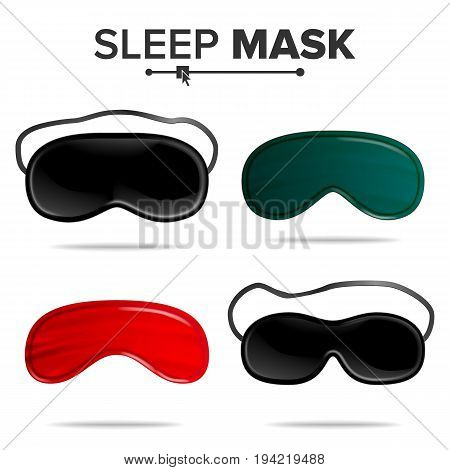 Sleep Mask Vector. Isolated Illustration Of Sleeping Mask Eyes. Help To Sleep Better