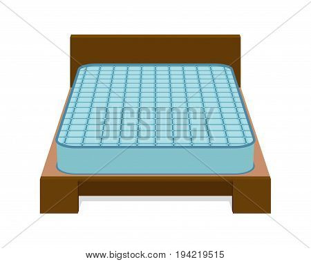 Comfortable mattress for sleeping on the bed. Vector illustration.