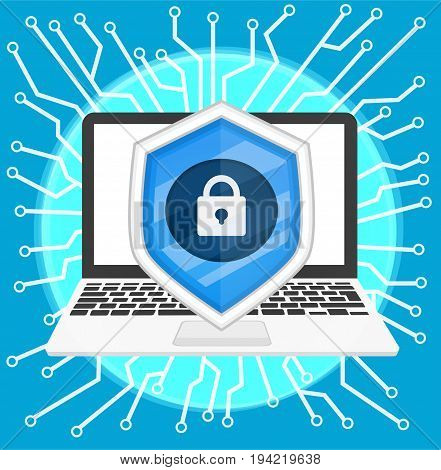 background cyber security vector ,illustration for website