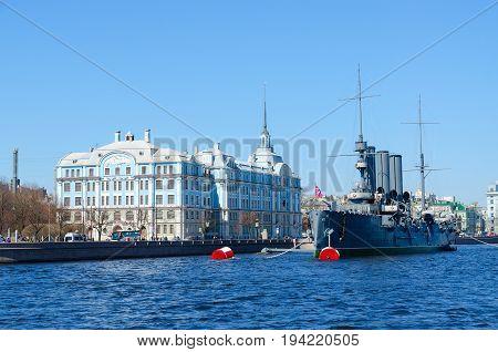 SAINT PETERSBURG RUSSIA - MAY 2 2017: Cruiser