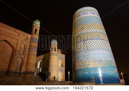 unfinished Kalta Minor Minaret minaret Muhammad Amin Khan 19th century . Khiva Uzbekistan