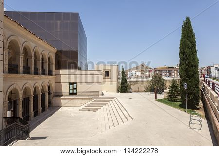 Lorca, Spain - May 29, 2017: Historic convent of La Merced building in the old town of Lorca. Province of Murcia Spain