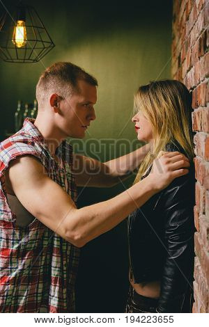 Strong sexual tension between man and woman