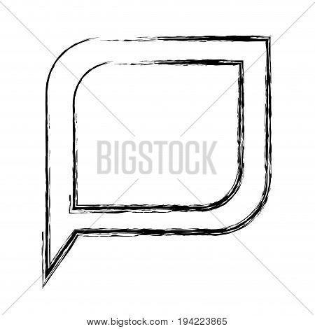 monochrome blurred silhouette of bubble speech vector illustration