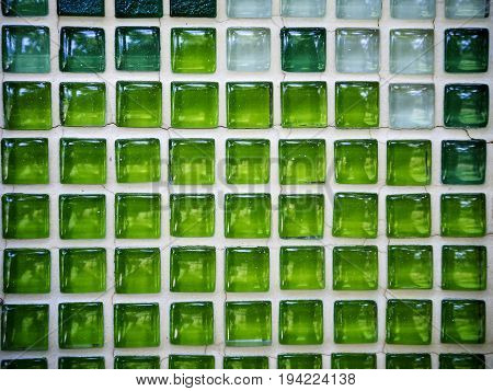 Texture Green Mosaic Tiles Or Mosaic Wall For Background