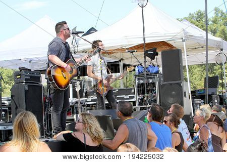 David Nail performs on day 3 of the 2017 Temecula Valley Wine and Balloon Festival on June 4, 2017 at the Lake Skinner Recreation Area in Temecula, CA.