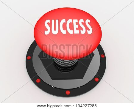 success button icon  . 3d rendered illustration