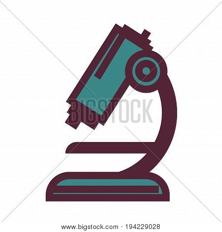 Powerful mechanic microscope for biological and chemical researches isolated flat cartoon vector illustration on white background. Special equipment for scientific discoveries and education.