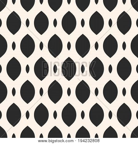 Vector monochrome seamless pattern. Smooth mesh texture, lattice, tissue, weave. Stylish geometric background. Abstract repeat illustration. Design element for prints, decor, textile, furniture, cloth.