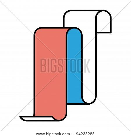 silhouette color sections of continuously long sheet vector illustration